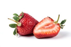 Strawberries grow with water